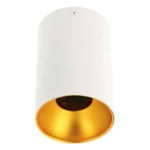 stropna lampa bijela sa zlatnim dnom gtv tensa