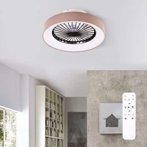 Plafonjera sa stropnim ventilatorom s daljinskim vanjskog ruba smeđe boje od platna